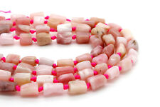 Natural Pink Opal Stone Smooth Chips Cut Nugget Tube Natural Gemstone Beads