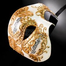 Phantom of the Opera Music Notes Venetian Masquerade Mask for Men M2602 [Gold]