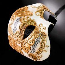 Phantom of the Opera Music Notes Venetian Masquerade Mask for Men M2602 [Gold]