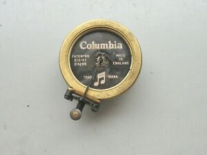 Rare Gilt Columbia  Sound - box for  Gramophone / Phonograph