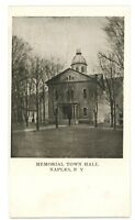 Memorial Town Hall in NAPLES NY Finger Lakes Ontario County Postcard 1