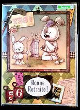 "Grande Carte Humoristique ""Bonne retraite !"" 29 x 30,7 cm"