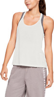 RRP -  £26.00 UNDER ARMOUR  Women's UA Whisperlight Foldover Tank, White, Size S