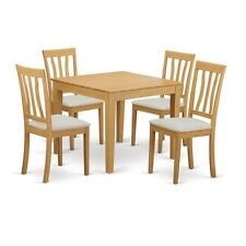 East West Furniture 5-Piece Table and chairs set - Table and 4 dinette chairs