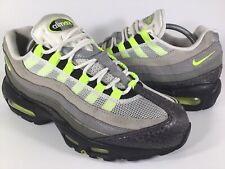 Nike Air Max 95 Premium SAMPLE Safari Volt Neon Green Black Grey Size 9 Rare
