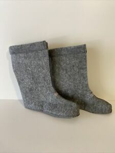 L L BEAN Gray Felt Replacement Northwoods Boot Liners Only Kids Sz 3 Youth Boots