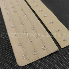 Hook and Eye Loop Tape Corset Lingerie Costume Supplies Wheat Colour 26.5cm Long