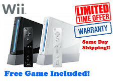 Nintendo Wii White Console + Free Game + Warranty + Same Day Shipping