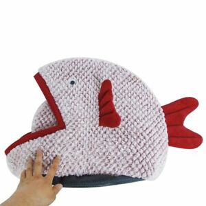 Pet House Dog Bed for Dogs Cats Small Animals Semi-enclosed Fish-shaped Cartoon
