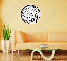 "Golf Club Ball Course Sport Grass Wall Sticker Room Interior Decor 22""X22"""