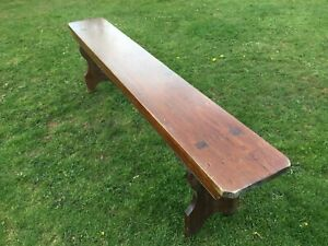 Vintage Old Pine School Bench, Rustic indoor or outdoor seating, Display table