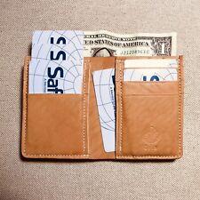 Mini Bifold Wallet Card Holder Horween Veg Tan Essex Leather Handmade