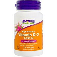 Now Foods Vitamin D-3 2000iu 240 Softgels Bones & Teeth