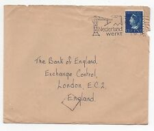 1946 NETHERLANDS Cover AMSTERDAM To LONDON GB SG509 Bank of England SLOGAN
