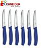 6x VICTORINOX Steakmesser - Brötchenmesser - Haushaltsmesser - BLAU - 6.7232