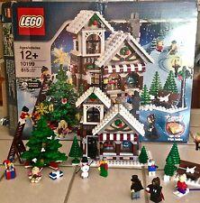 LOT 2 LEGO 10199; 3300002 Winter Village Toy Shop; Santa Winter Fireplace 2 sets