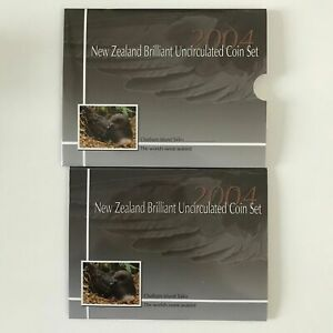2004 New Zealand Brilliant UNC Set with Annual Chatham Island Taiko Coin