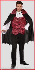 VAMPIRE COSTUME 2pc MENS Prince of Darkness DRACULA Halloween Fancy Dress Party