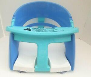 Dreambaby Infant Bath Seat Suction Cup Anti-Slip Bath tub Seat Blue White