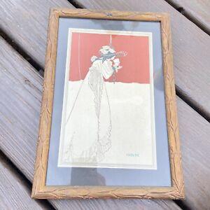 Vintage Isolde By Aubrey Beardsley Poster Print Framed