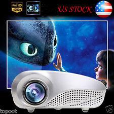 Home Theater 5000 Lumens LED LCD 3D Projector 1080P HD HDMI TV PC AV USB VGA SD