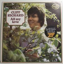"CLIFF RICHARD All My Love LP Album 12"" 33rpm Vinyl VG"
