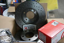 Brembo Xtra Line Brake Discs and Brake Pads Audi A6 4F2/4F4 Set for Rear