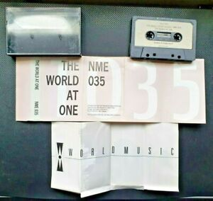 THE WORLD AT ONE Various Rare 1987 NME 035 Cassette Tape African Folk World