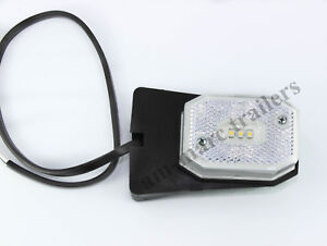 WHITE LED FRONT MARKER LIGHT LAMP FOR IFOR WILLIAMS AS ASPOCK
