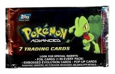 2003 Topps Advanced Factory Sealed Unopened Pokemon Card Booster Pack (7) #A