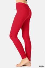 Leggings YOGA Pants Premium COTTON Stretch Full Length S-M-L-XL Plus 1X-2X-3X