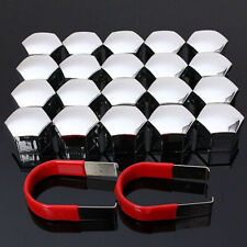 20*Nut Caps+2*Clips Caps Bolts Covers Chrome Wheel Nuts ABS Plastic Universal