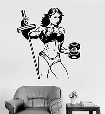 Vinyl Wall Decal Fitness Woman Gym Sports Girl Stickers Mural (ig4156)