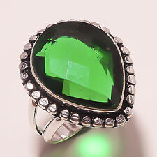 FACETED CHROME DIOPSIDE HANDMADE Jewelry  RING 8.5 A-58