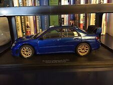 1:18 AUTOart 80691 SUBARU IMPREZA WRC 2006, plain blue body New with box - RARE