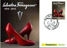 SALVATORE FERRAGAMO CARTOLINA FILATELICA 2015 - MAXI CARD