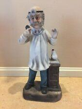 Porcelain Bisque Figurine Old Man doctor
