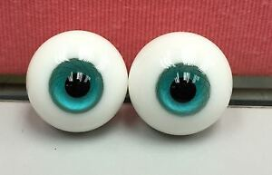 Glass Eye 12mm Aqua Blue vein fits YOSD AI Lait 1/6 BJD