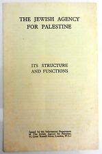 Judaica jewish agency for palestine its structure and functions jnf kkl zionist