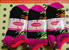 lot of 3X6 pairs pack Socks for Girls Sz (9-11) Ankle Length low cut assorted
