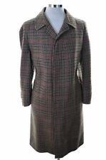 Daks Mens Coat Size 42 Large Multi Check Wool Viscose