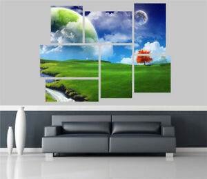 a Dream Landscape Fantasy Removable Self Adhesive Wall Picture Poster 1321