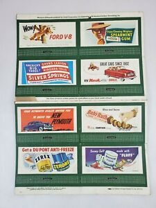 Set of 8 Lionel Train Miniature Full Color Billboards by Standard Outdoor Ads