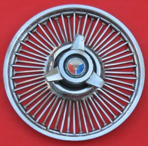 """1963 to 1964 Ford Fairlaine 14"""" Hollow Wire Wheel Cover Hubcap"""