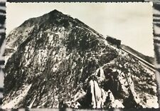 Wales Snowdon Train near Summit RPPC - unposted