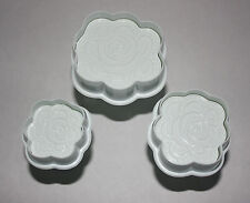 Set di 3 Rose stantuffo Cutter, Sugarcraft, Torta Decorazione Fondant
