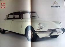 AUTO OGGI -  POSTER E ARTICOLO CITROEN DS - GILERA XR2 - ALFA 75 VS PEUGEOT 405