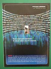 9/2008 PUB NORTHROP GRUMMAN AESA ACTIVE ELECTRONIC SCANNED ARRAY TECHNOLOGY AD