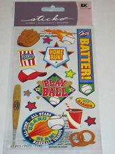 Scrapbooking Sticker Pack Stickos Baseball Theme Batter Home Run Pretzel Food