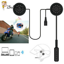 Motorcycle Helmet Headset Speakers Mic Bluetooth Handsfree Music Call Control DE